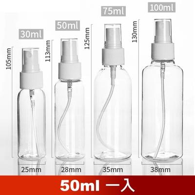 荷生活 PET材質透明小噴瓶 防疫酒精消毒水分裝瓶-50ml一瓶