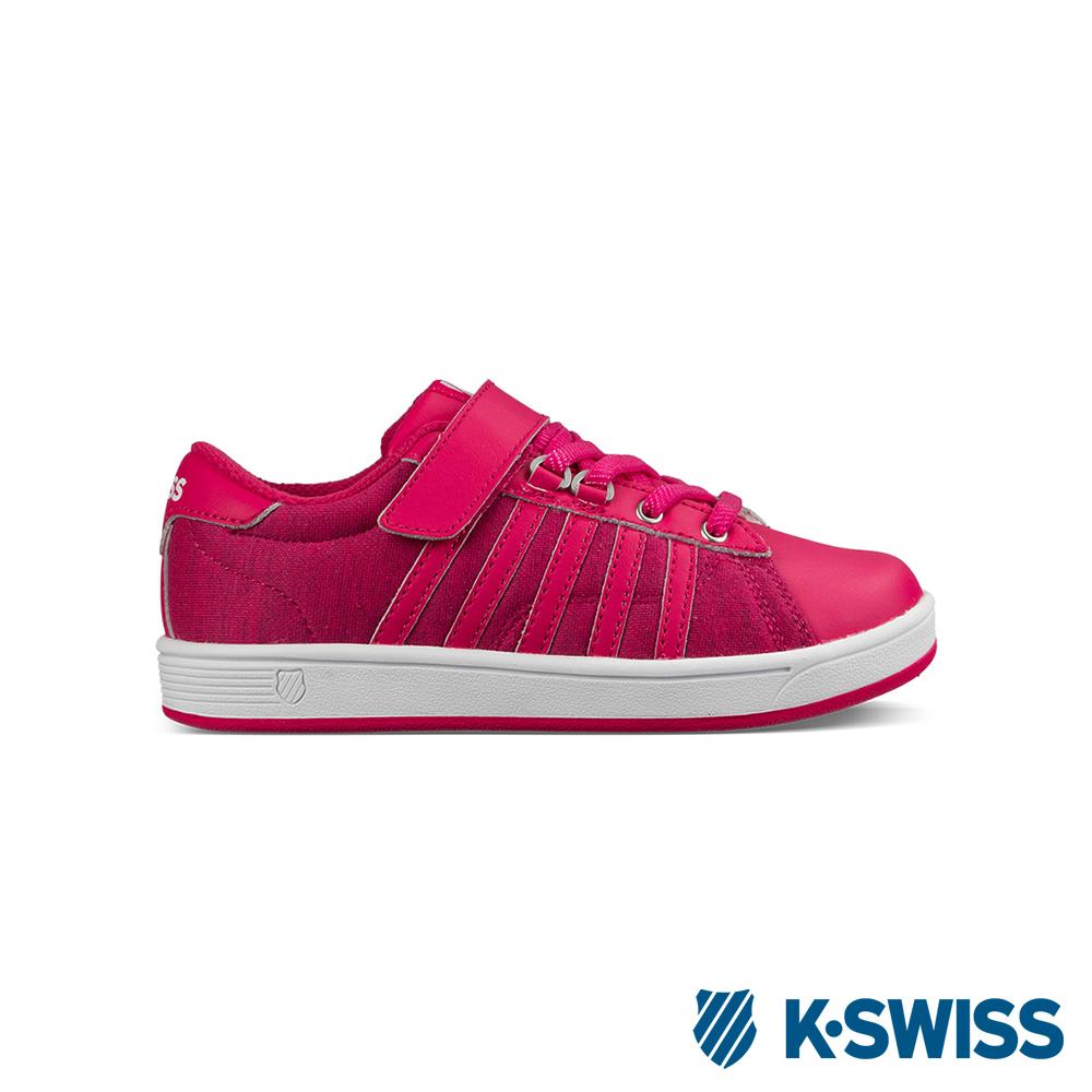 K-Swiss Hoke T VLC休閒運動鞋-童-桃紅/白
