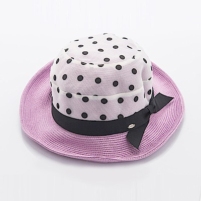 ELLE法式浪漫優雅草帽_紫