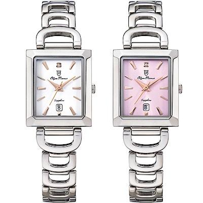 OlymPianus奧柏表 簡約風情時尚淑女腕錶