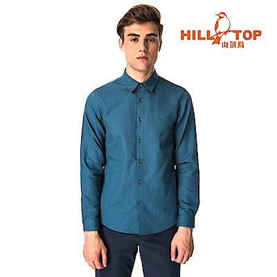 【hilltop山頂鳥】男款ThermoTech保暖長袖襯衫C05M25賓藍