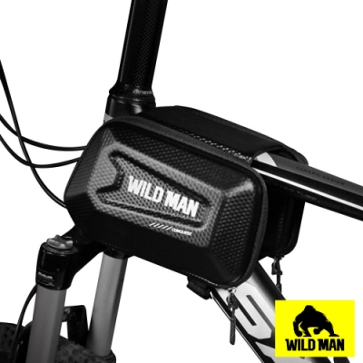 WILD MAN 自行車前梁上管袋硬殼馬鞍防水收納包