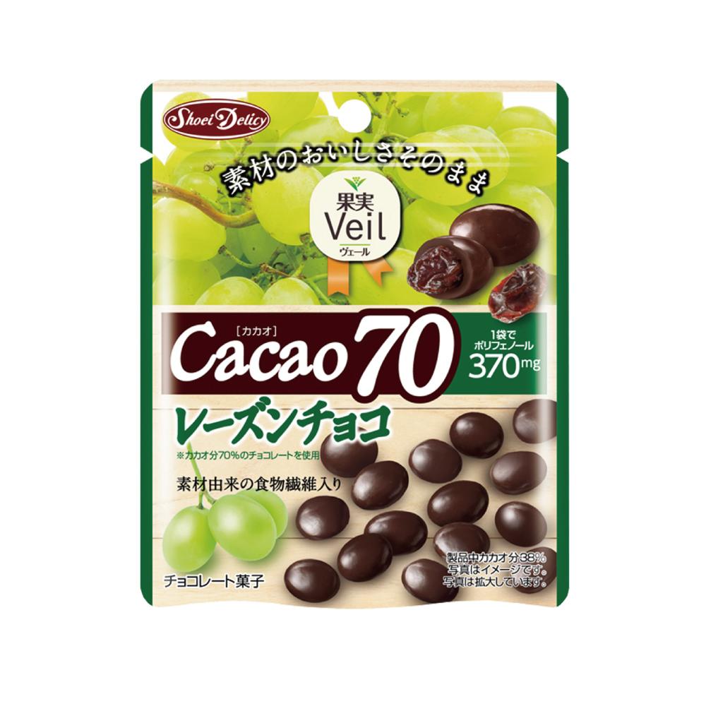 正榮 果實Veil葡萄乾可可70%巧克力立袋(42g)