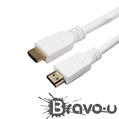 Bravo-u 30米 HDMI to HDMI 4K高畫質影音傳輸線(白)