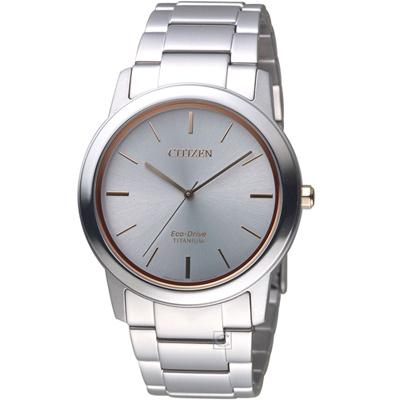 CITIZEN Eco Drive 簡約時尚鈦金屬腕錶(AW2024-81A)41mm
