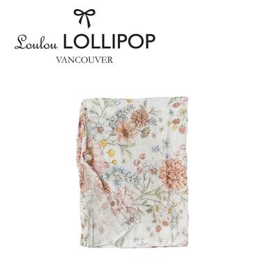 Loulou lollipop 加拿大竹纖維透氣包巾120x120cm - 祕密花園