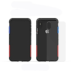 Telephant太樂芬 NMD iPhone X/XS  黑-配OG(附背蓋)