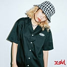 X-girl WARP LG SHIRT DRESS OVERSIZE短袖襯衫-黑