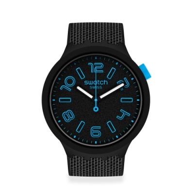 SWATCH BIG BOLD系列手錶DEEP CONCRETE 穩重紳士(47mm)