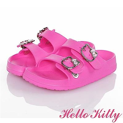 HelloKitty 輕量減壓吸震休閒拖鞋童鞋 桃色