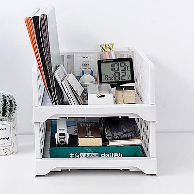 【Mr.box】日式抽取式可疊衣櫃收納架(大款矮 6件組)-北歐白