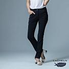 【LACHELN】女款-吸濕排汗彈性修身功能長褲-黑色(L91W702)