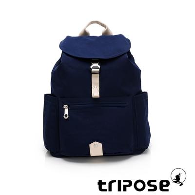 tripose MEMENTO微皺尼龍輕量後背包-大(深海藍)