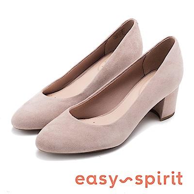 Easy Spirit evROBIN-通勤首選舒適中跟鞋-灰色
