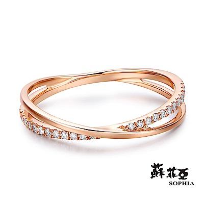 蘇菲亞SOPHIA - 娜妮亞玫瑰金鑽石線戒
