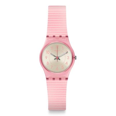 Swatch Gent Standard 原創系列手錶 BLUSH KISSED 緋紅輕吻-25mm