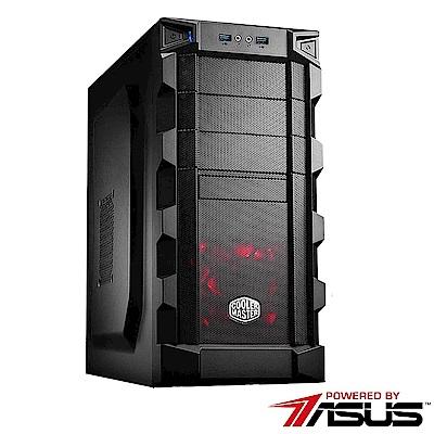 華碩H370平台[白銀鋼彈]i7六核GTX1050獨顯SSD電玩機