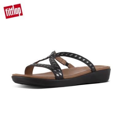 [時時樂] FitFlop STRATA SANDALS-WHIPSTITCH LEATHER 雙色交織皮革涼鞋/羅馬式後帶涼鞋(共兩款)