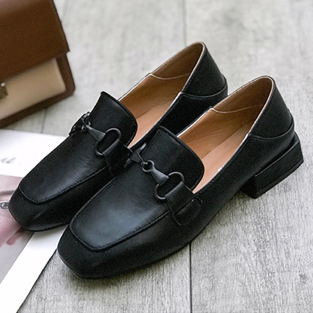 韓國KW美鞋館 破盤價簡約素色懶人鞋-黑色