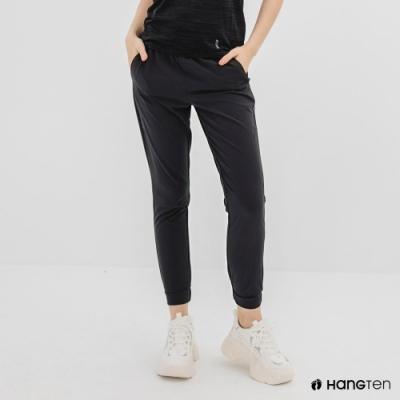 Hang Ten-女裝-恆溫多功能-REGULAR FIT標準四向彈力吸濕快乾抗曬運動長褲-深灰色