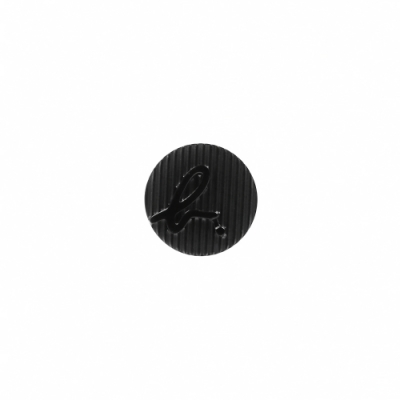 agnes b. b logo單耳耳環(黑色/針式)