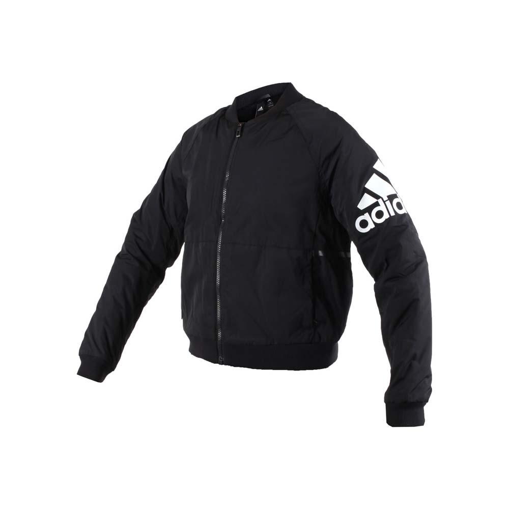 ADIDAS 女防風保暖外套-刷毛 長袖外套 風衣外套 愛迪達 黑白