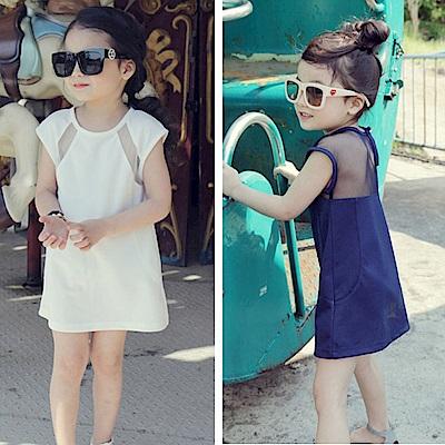 小衣衫童裝  極簡魅力露背拼紗連身裙1040621