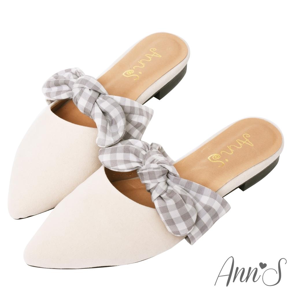 Ann'S啾啾咪-不破內裡可愛蝴蝶結穆勒鞋 -杏(版型偏小)