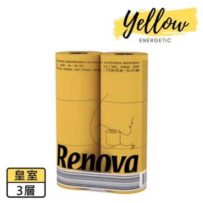 Renova 天然彩色皇室芳香捲筒衛生紙-烈焰黃 1入x6捲x140節
