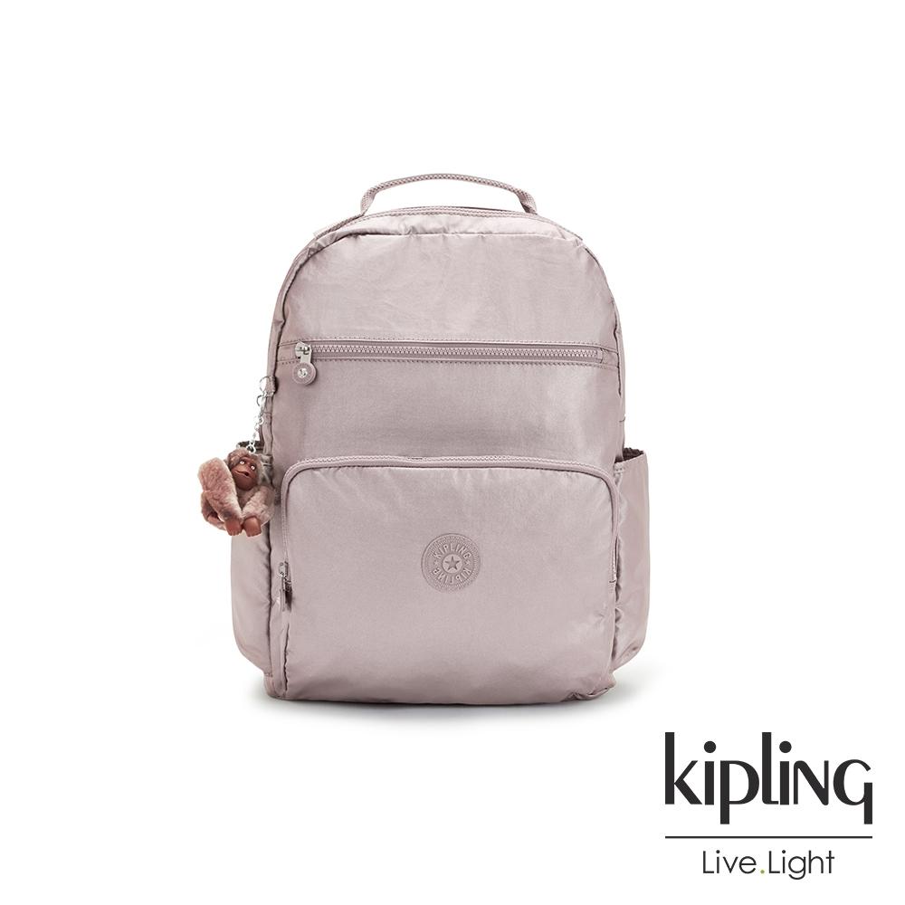 Kipling 淡雅金屬榛果色大容量媽媽包-SO BABY