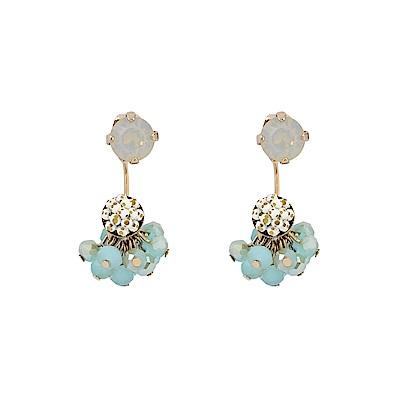 LOVERS TEMPO加拿大品牌 施華洛世奇水晶珠垂墜耳環