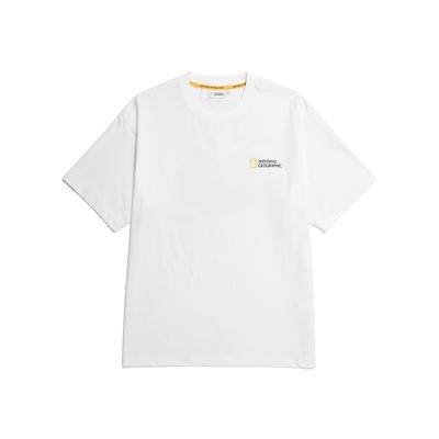 NATIONAL GEOGRAPHIC SEMI OVERFIT ACTIVITY GRAPHIC T-SHIRT 男女短袖T恤-白-N212UTS909008