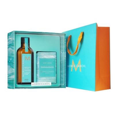 MOROCCANOIL摩洛哥優油愛皂禮盒 優油125ml+沐浴皂200g公司貨 贈精美紙袋