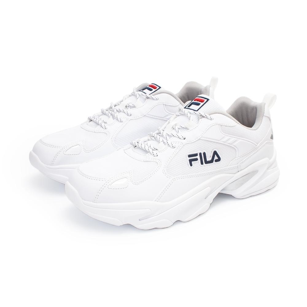 【FILA】MONSTER 復古運動鞋 男鞋-白(1-J907U-113)