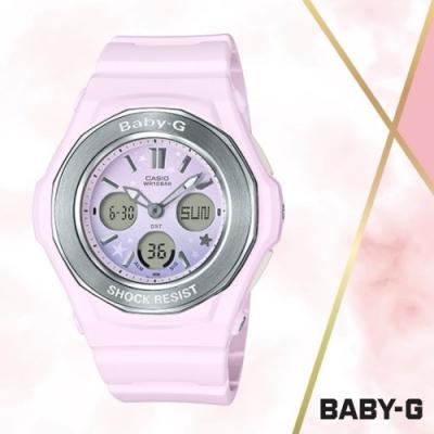 CASIO卡西歐 BABY-G繽紛彩色雙顯錶(BGA-100ST-4A)粉色/44mm