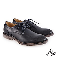 A.S.O 健步通勤 休閒輕盈紳士鞋 深藍