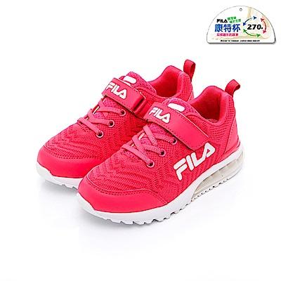 FILA KIDS 大童氣墊慢跑鞋-桃 3-J413T-211