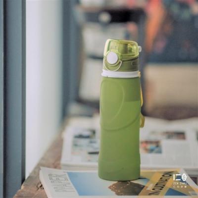 仁舟淨塑 捲捲矽水瓶750ml-大地綠