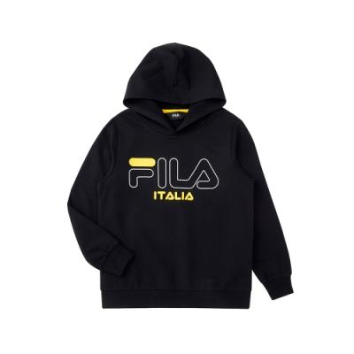 FILA KIDS 童針織連帽TEE-黑色 1TEU-8904-BK