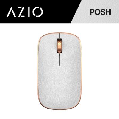 AZIO RETRO R.C.M. POSH 無線藍牙復古牛皮滑鼠(白金)
