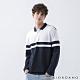 GIORDANO 男裝拼接彈性長袖POLO衫 - 65 藍/白 product thumbnail 1