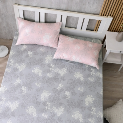 鴻宇 100%精梳棉 昆蒂娜 粉 雙人加大床包枕套三件組