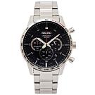 SEIKO 50週年紀念款計時手錶(SSB355P1)-灰黑面X銀色/44mm
