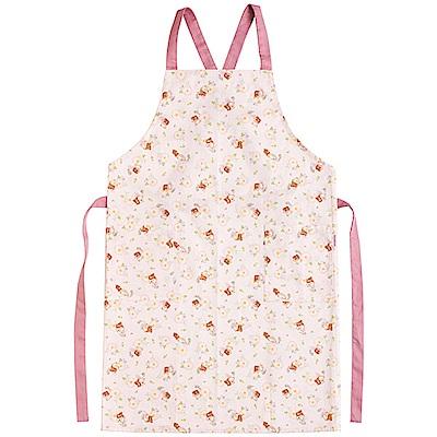 懶妹蜂蜜小熊的粉彩花園系列圍裙。粉紅  San-X