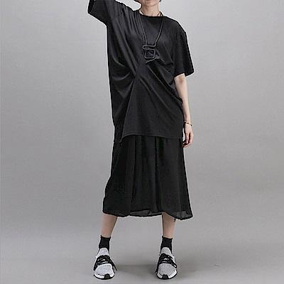 夏季新款寬鬆T恤抽褶設計感時尚個性半袖T恤-設計所在 MP1823