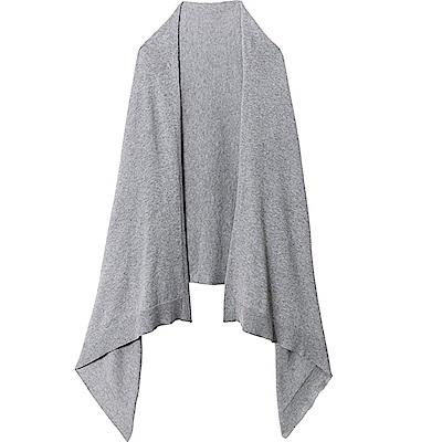 日本COGIT 2WAY KNIT CAPE STOLE素面發熱纖維披肩圍巾#9043系列(黑色/灰色)