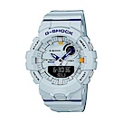 CASIO 卡西歐 G-Shock 城市時尚雙顯電子錶-淺藍/48.6mm