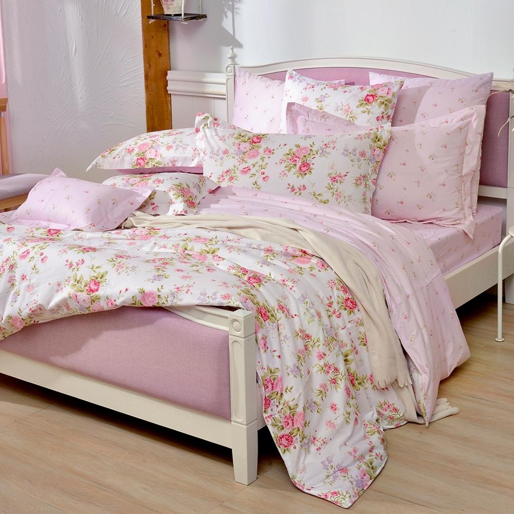 義大利La Belle 花宴綻放 加大純棉床包枕套組