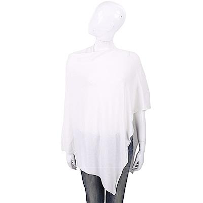 ALLUDE 喀什米爾不規則設計白色羊毛罩衫