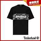 Timberland 男款黑色品牌圖案短袖T恤 A1XRM